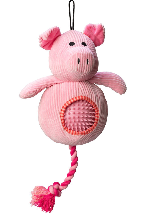 Pig Cord Toy With Spiky Ball
