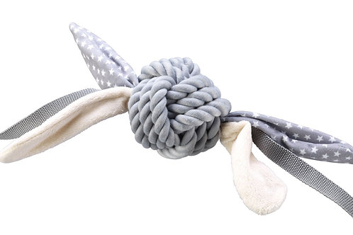 Grey Rope Ball With Tags