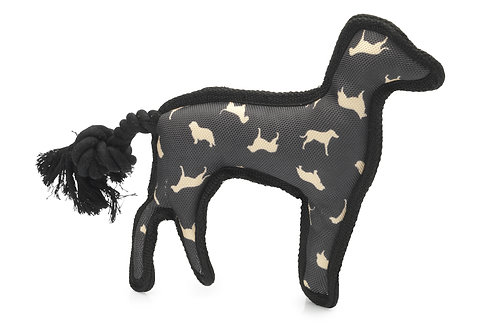 Silhouette Print Dog With Rope Tail