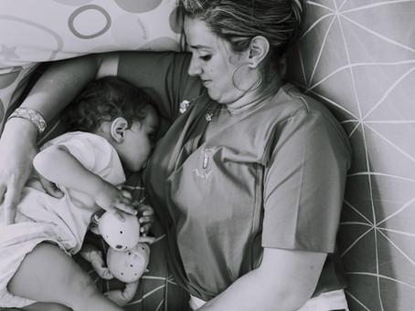 A toi la jolie maman …un peu fatiguée…