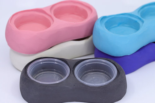 Thick dual 0.5oz cup holder