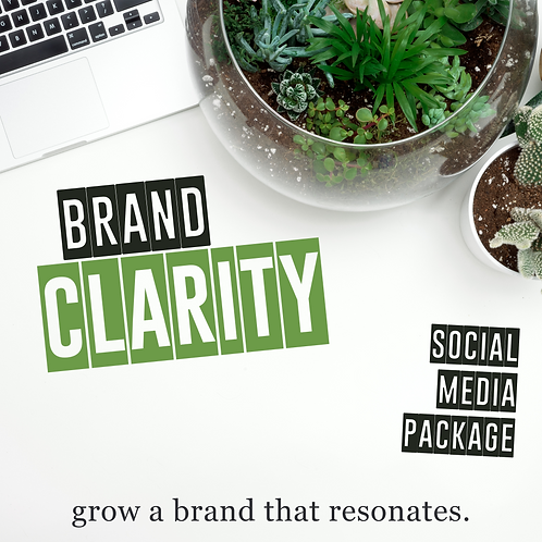 """""""Brand Clarity"""" (For Individuals) Monthly Package"""