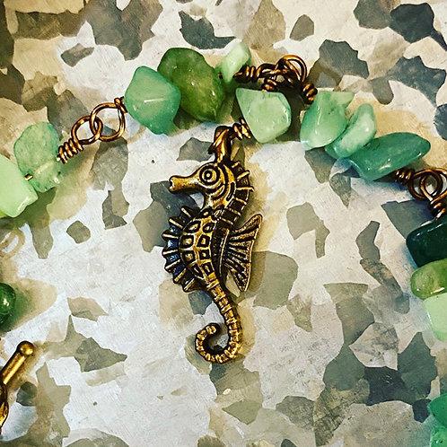 Green Seahorse Bracelet