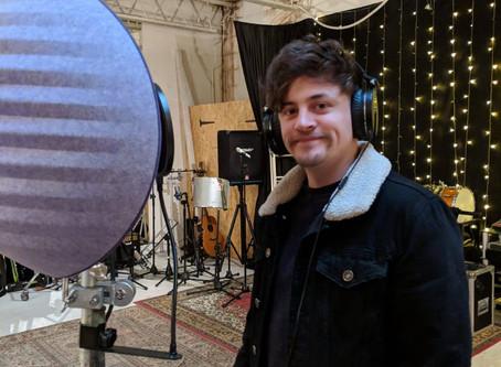 In the studio recording BV's!