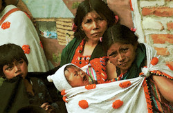 Sobrevivientes de la masacre Acteal 1999