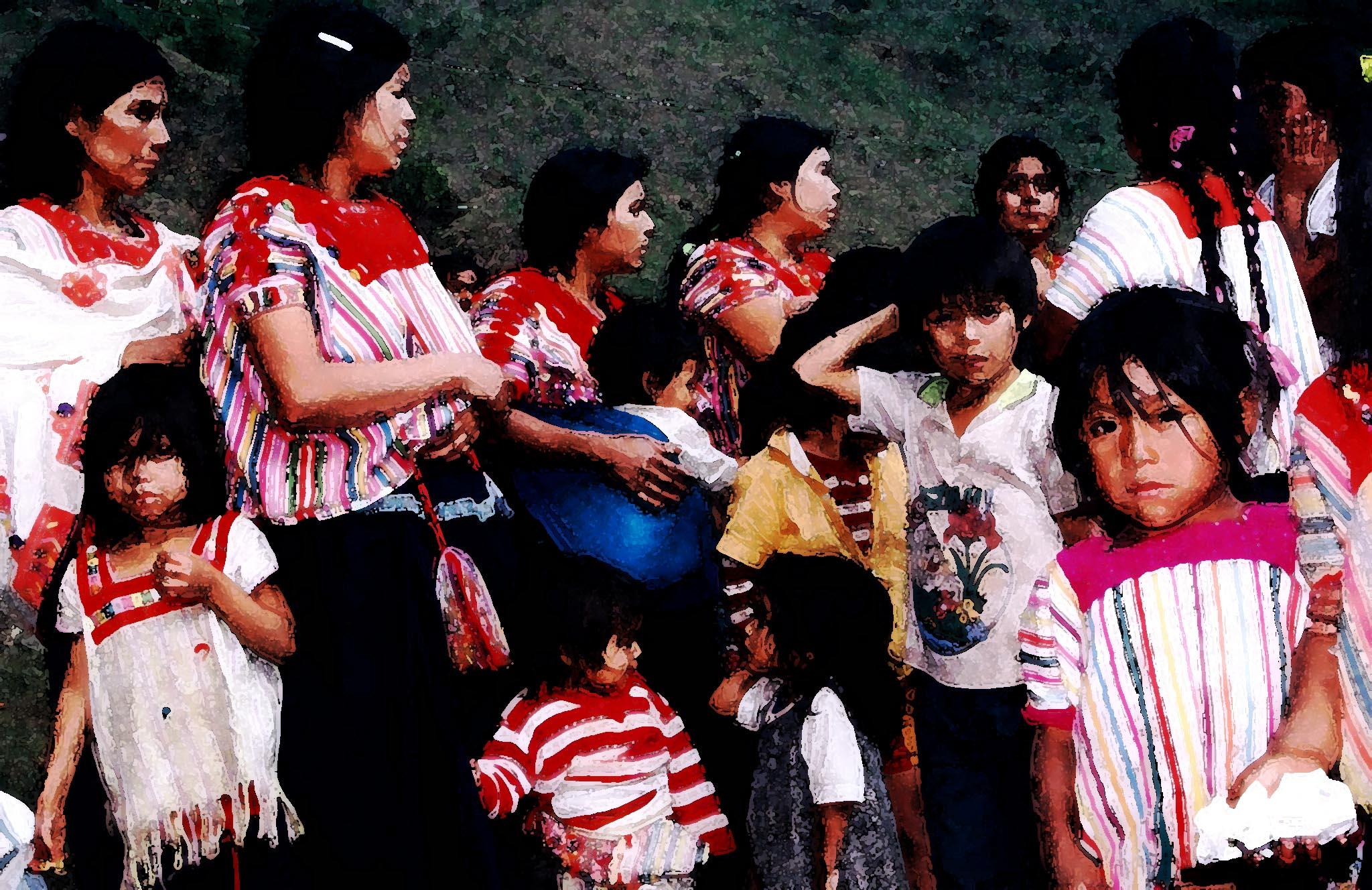 Refugiados de la masacre de Acteal en Polho 23 dic 1997