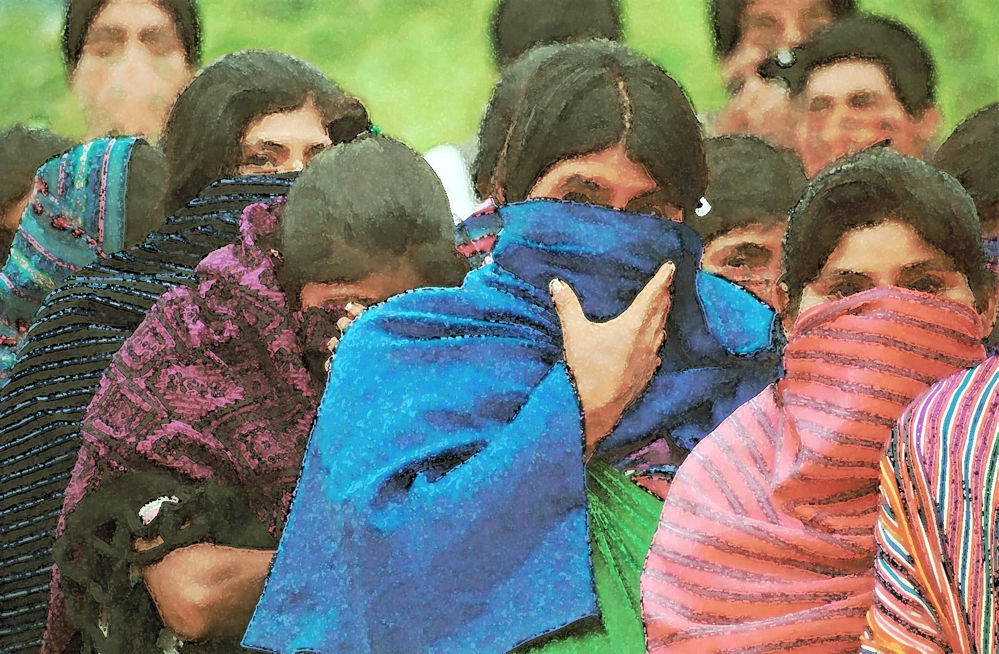 zapatistas bloquean camino, mun. che guevara 1999