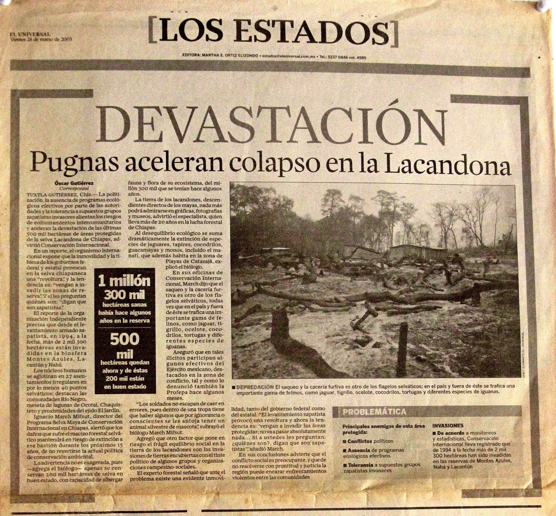 Devestation, El Universal