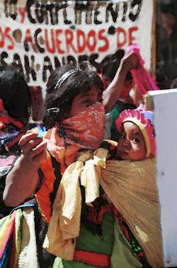 Mujeres Zapatistas protestan, 2000
