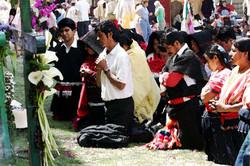 Sna Jolobil reza en Sto. Domingo 2005