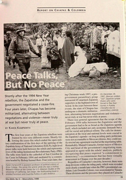 Peace talks, no peace; NACLA