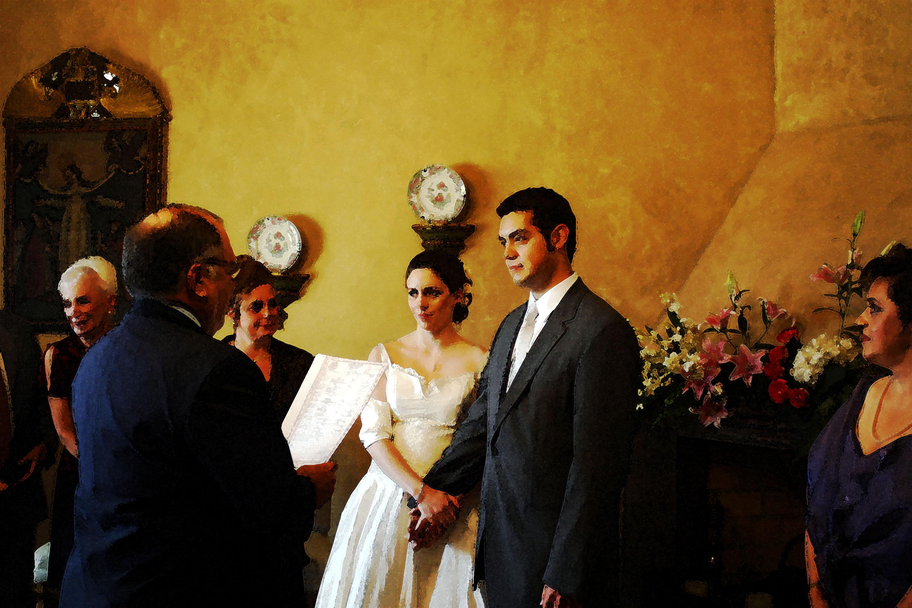 Elmar & Micaela Photo-painting