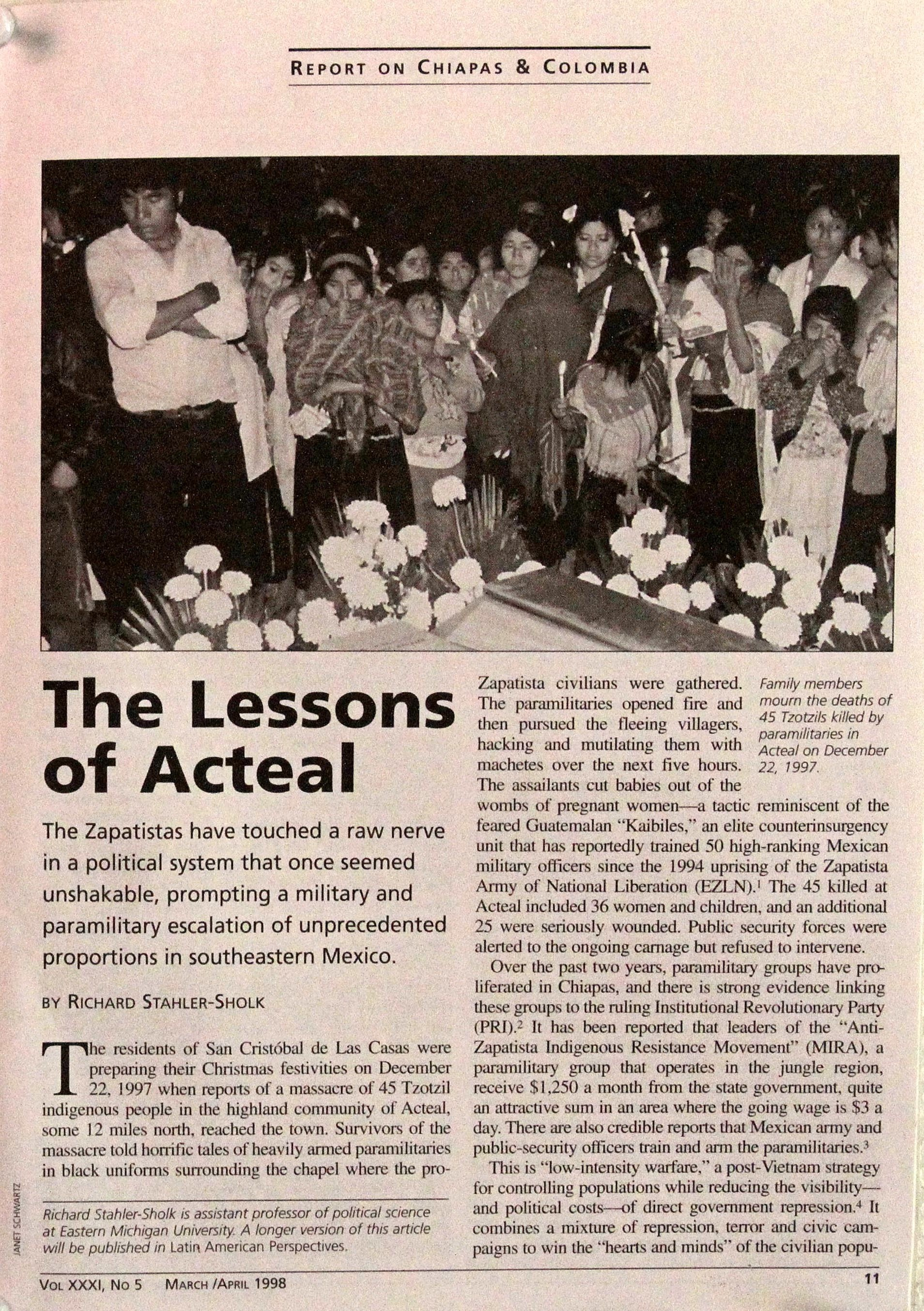 Lessons of Acteal, NACLA