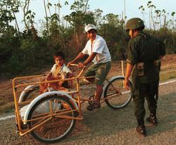 Maya jungle squatters, AFP