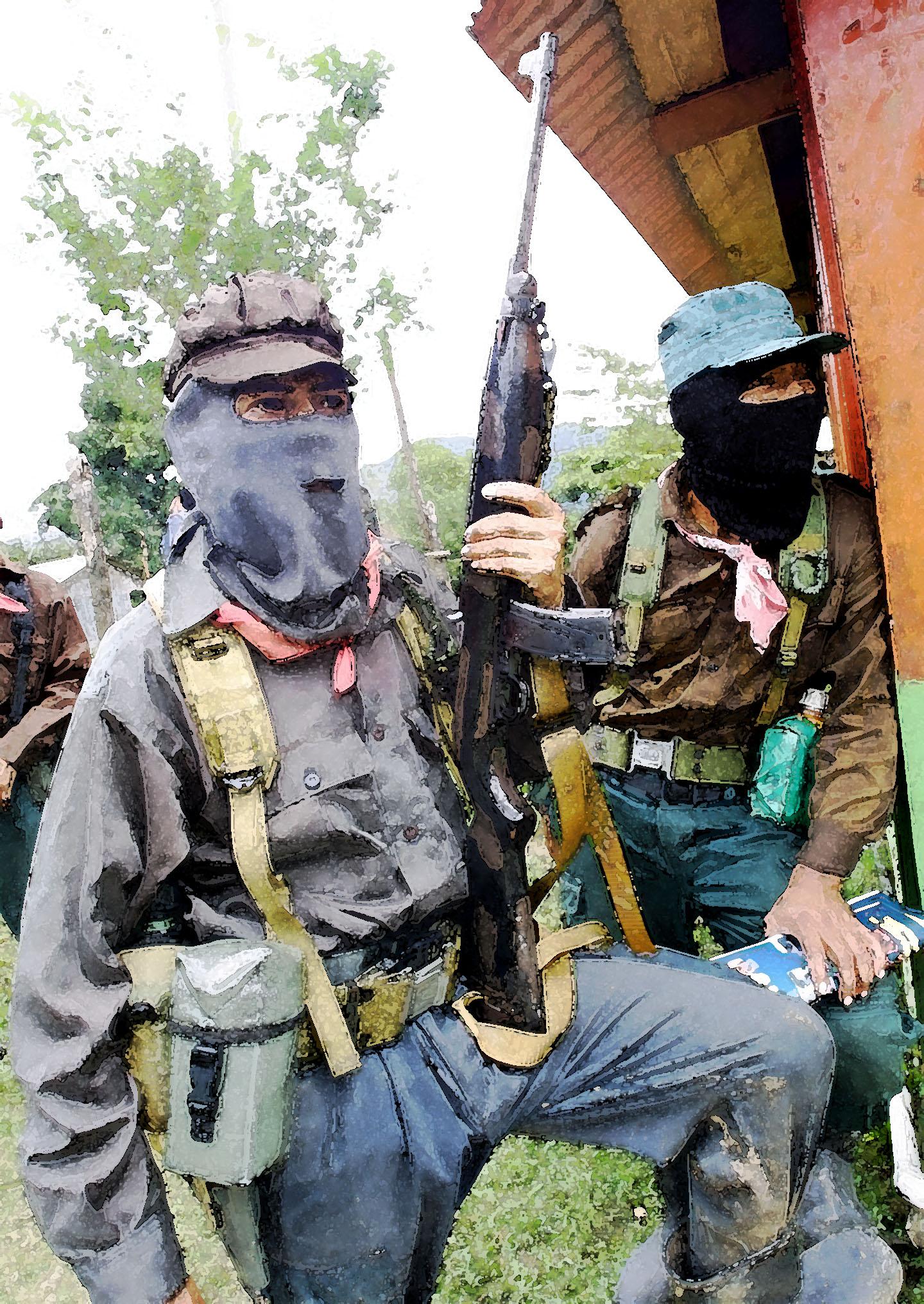 Milicianos EZLN La Realidad, 2001