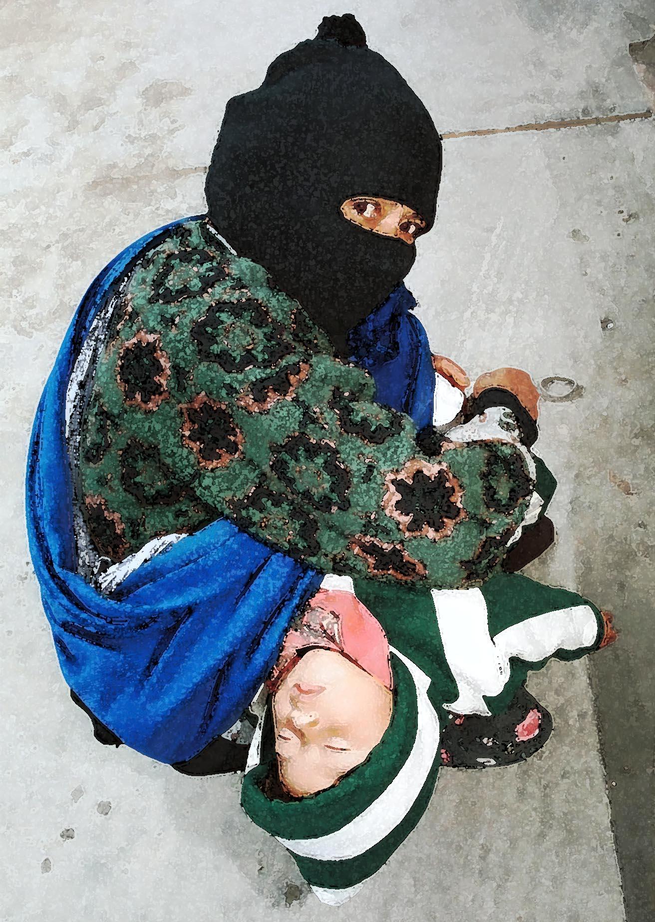 Zapatista madre y hija 2000