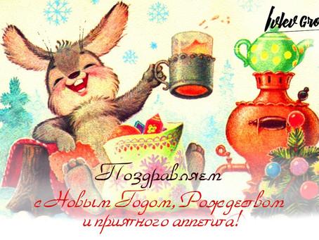 Друзья, команда IvlevGroup поздравляет вас с наступающим Новым Годом и Рождеством! 🎄