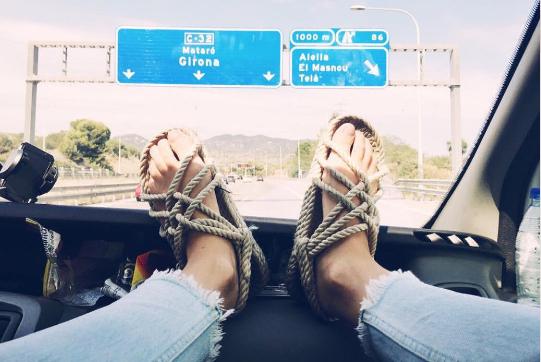 Hippy Rope Sandals - Rustic Tan