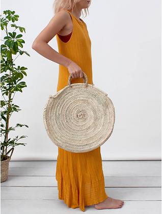 Large Boho Basket Bag