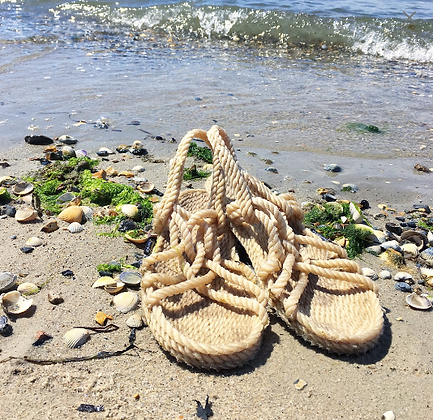 Hippy Rope Sandals - Natural