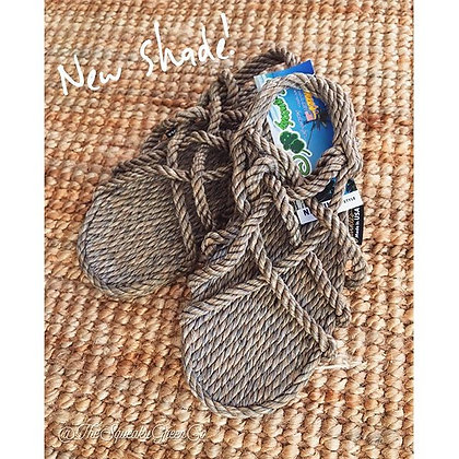 Hippy Rope Sandals - Speckled Twine