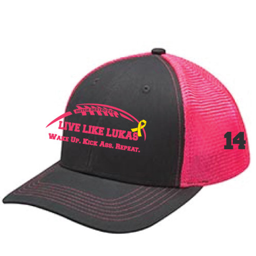 Pink Wake Up Kick Ass Repeat Hat