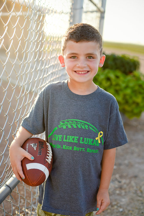 Green Wake Up Kick Butt Repeat Kids T-Shirt