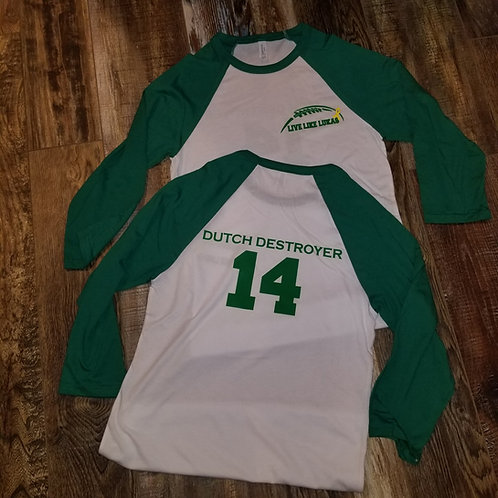 Kelly Green Unisex 3/4-Sleeve Raglan T-Shirt