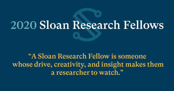 FEBRUARY 12, 2020: JAKOAH NAMED A 2020 SLOAN RESEARCH FELLOW IN CHEMISTRY