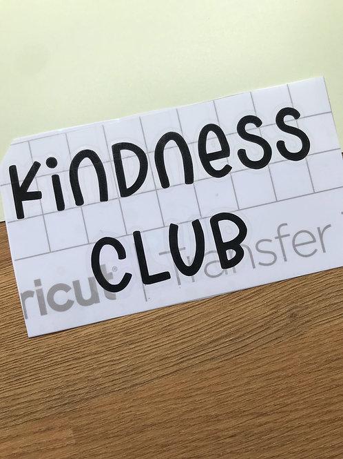 kindess club mirror decal sticker