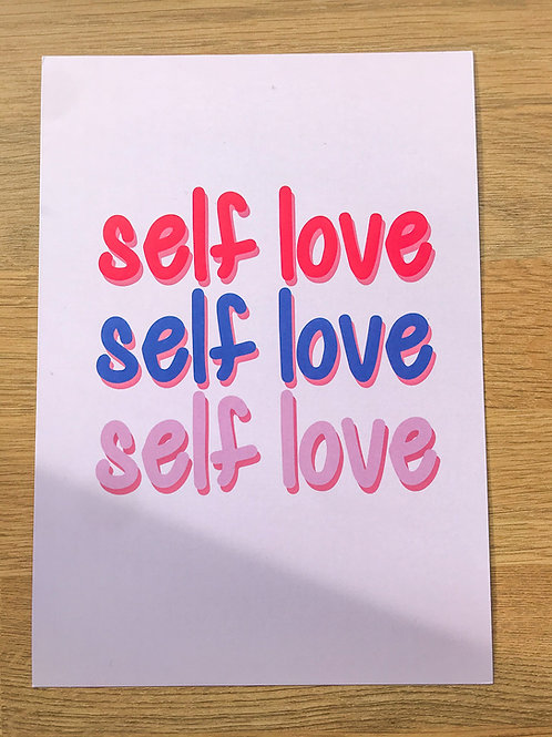 Self Love A5 Print