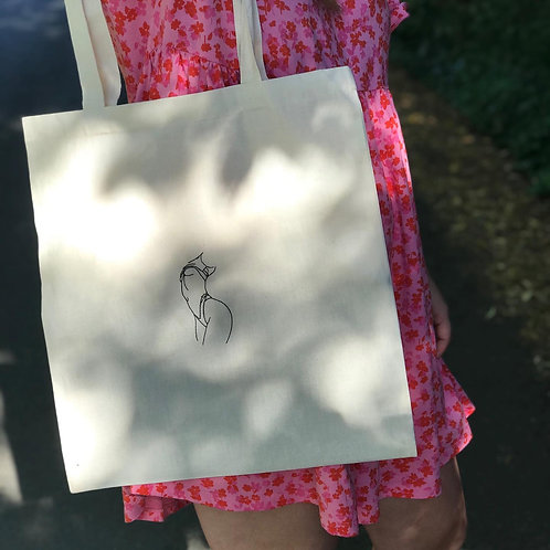 lady outline tote