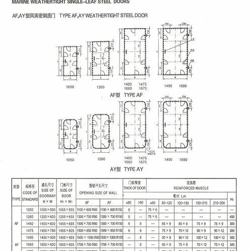 Steel Single-leaf Weathertight Door for Ships