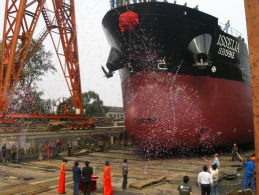 Shipbuilding 103M Oil Tanker in 2005.