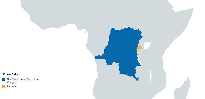 A Map of The Democratic Republic of Congo DRC, Rwanda, and Kairos Africa