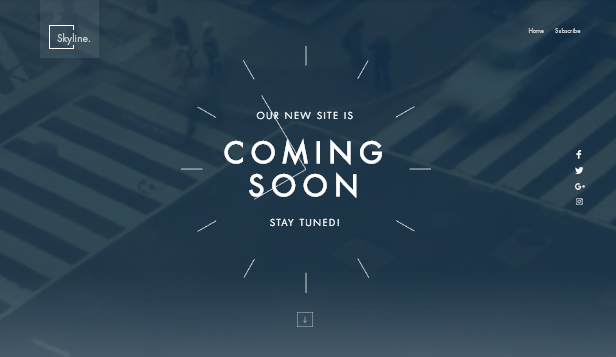 Guarda tutti i template template – Pagina per Coming Soon