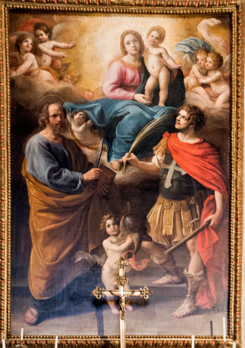 Pala d'altare chiesa di San Maurizio a Pedona