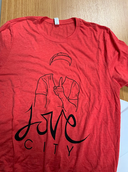 LOVE CITY T-SHIRT -- BRIGHT RED