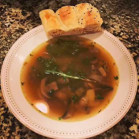 Mushroom Leek Soup- Perfect For A Cozy Winter Night!