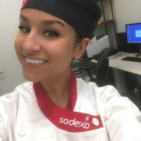 Assisting Sodexo Chefs in Hot & Cold Production