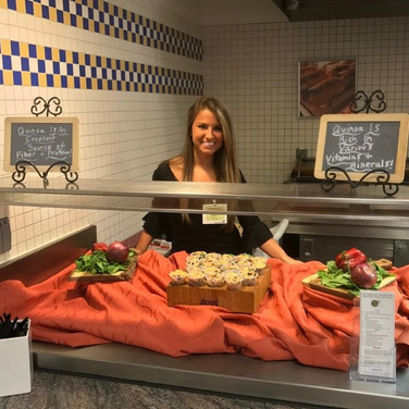 Performing A Food Demonstration To The Employees at Munich Reinsurance in Princeton, NJ