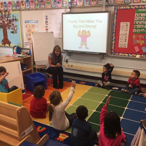 Teaching a Nutrition Lesson At a Local Pre-School