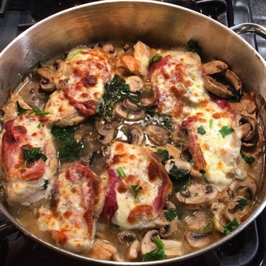 Chicken Valdostano- The Healthy Version!
