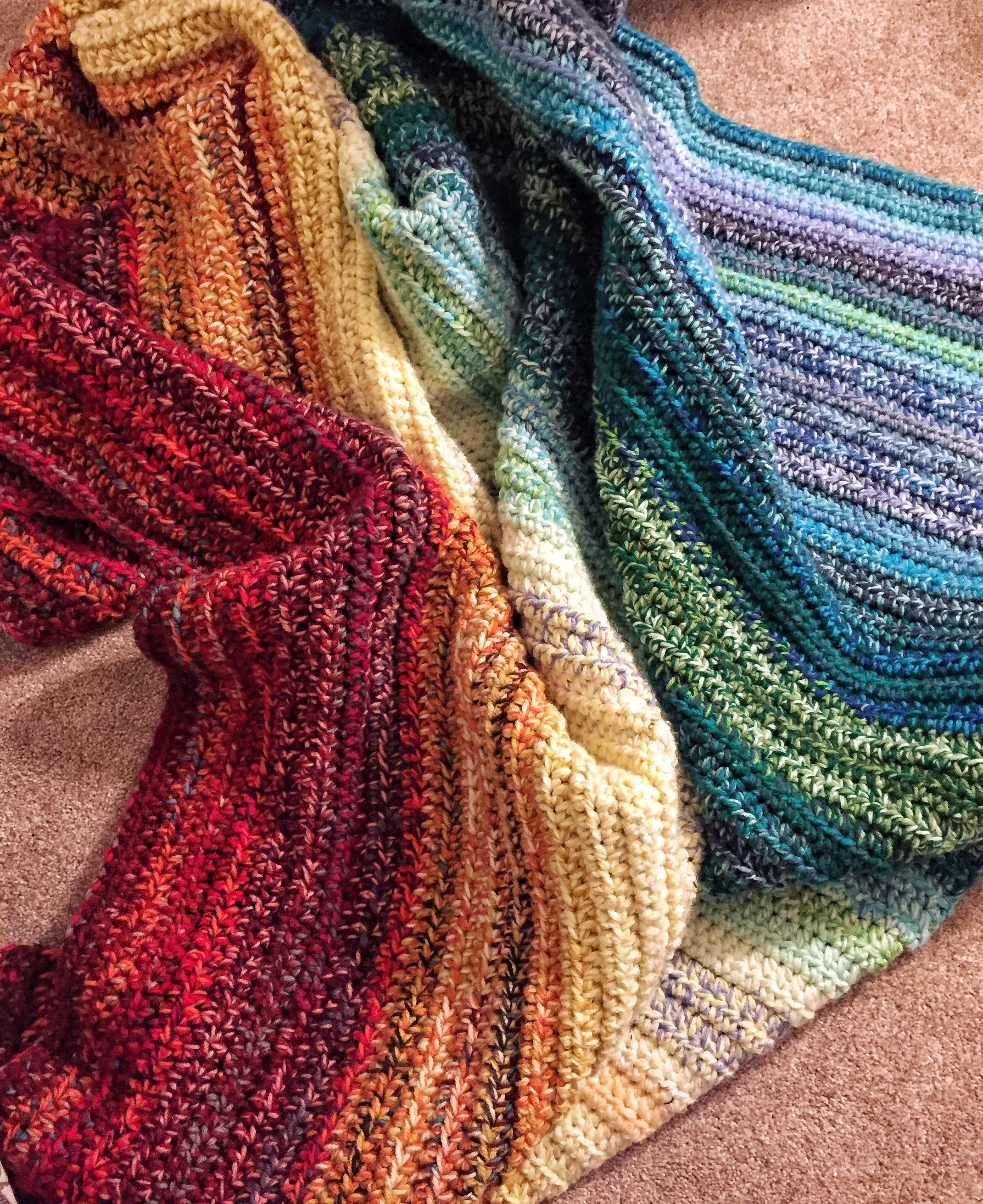 The Easy Weighted Rainbow Blanket