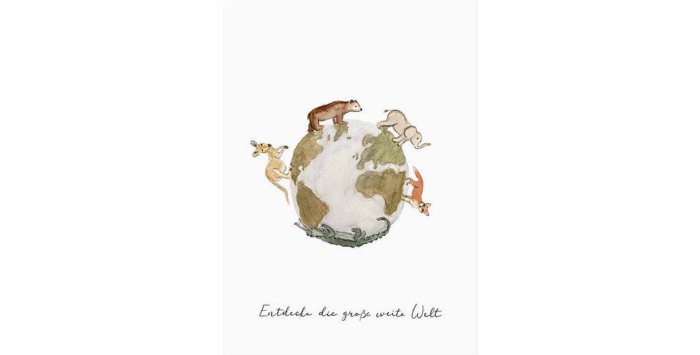 Postkarte Weltentdecker