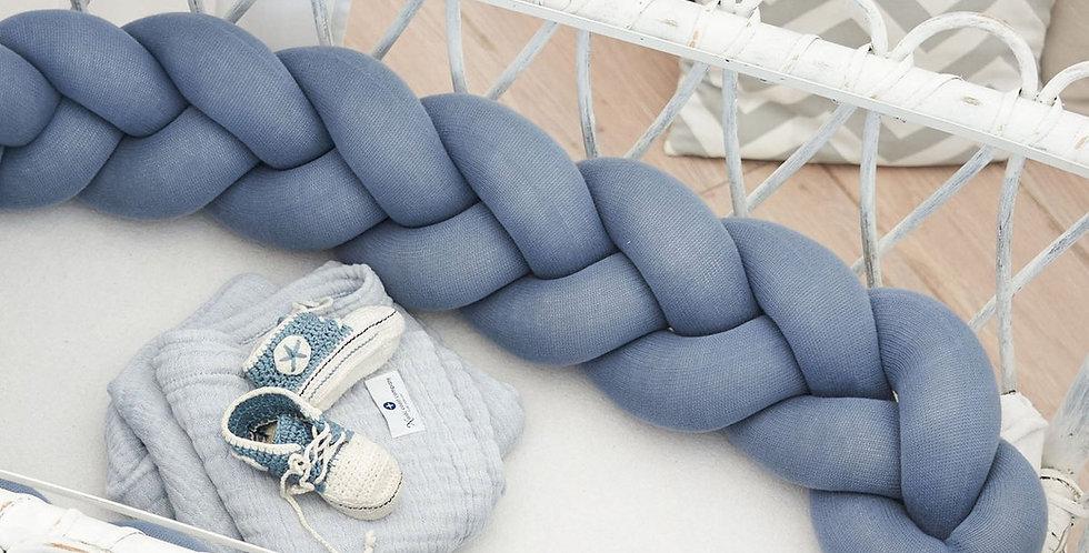 Bettschlange blau