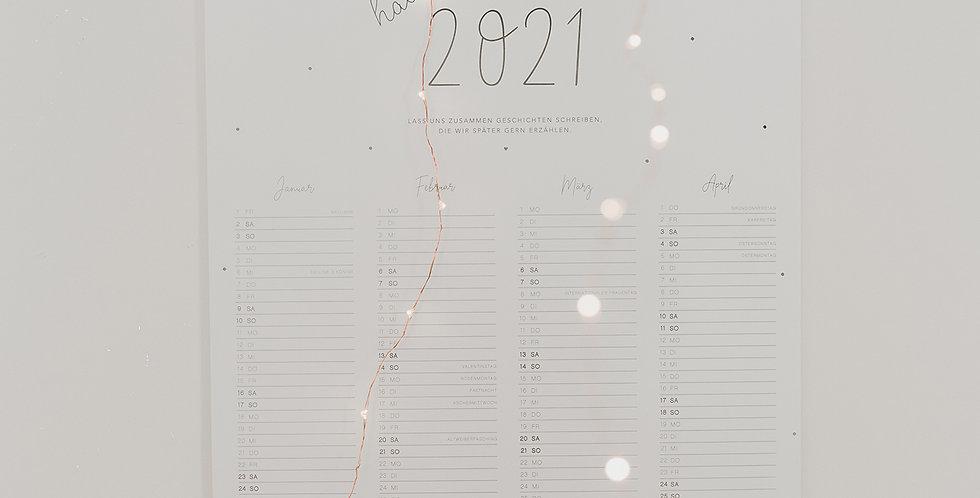 Eulenschnitt Wandkalender 2021