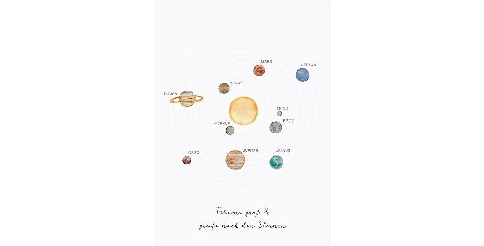 Postkarte Sonnensystem