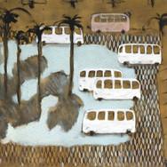 Buses 140x140cm oil/canvas 2017