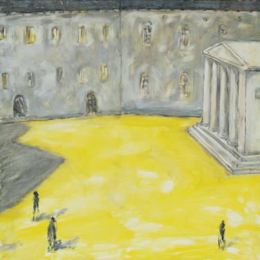 Piazza di Roma 90x90cm oil/canvas 2014